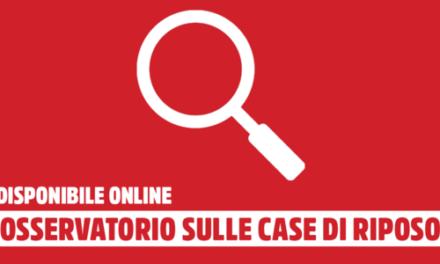 SPI/CGIL nazionale: disponibile online l'Osservatorio sulle residenze per gli anziani in Italia