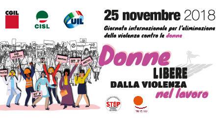 CGIL-CISL-UIL: in piazza il 25 novembre CONTRO LA VIOLENZA SULLE DONNE