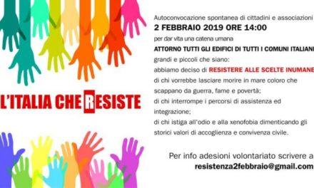 Sabato 2 febbraio: venite, Resistiamo insieme,  si manifesta in centinaia di Comuni!