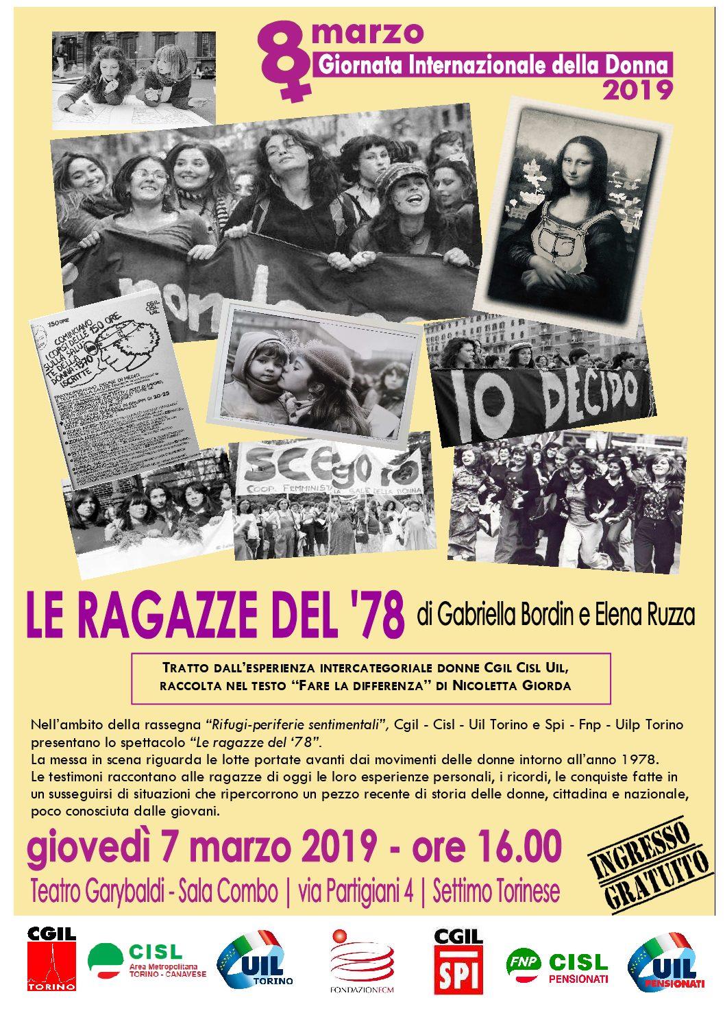 Le ragazze del '78: uno spettacolo teatrale per l'8 marzo -Teatro Garybaldi a Settimo T.se